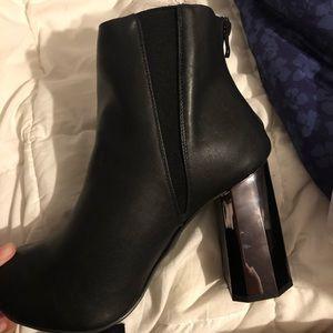 torrid Shoes - Torrid Black Geometric Heel Bootie